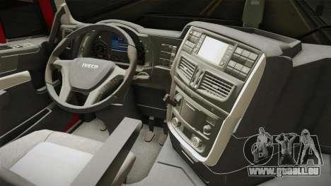Iveco Stralis Hi-Way 560 E6 6x4 v3.1 für GTA San Andreas Innenansicht