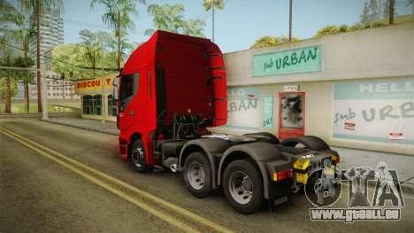 Iveco Stralis Hi-Way 560 E6 6x4 v3.1 für GTA San Andreas linke Ansicht