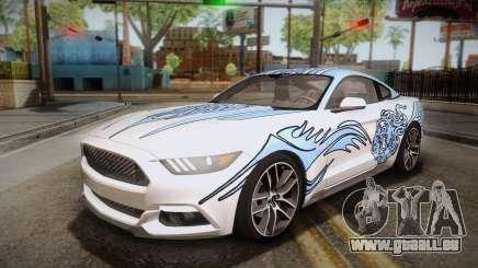 Ford Mustang GT 2015 5.0 PJ für GTA San Andreas