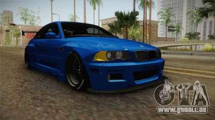 BMW M3 E46 Liberty Walk Pandem Livery für GTA San Andreas