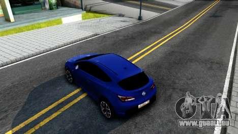 Opel Astra GTC pour GTA San Andreas vue arrière