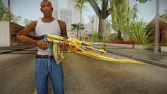 Cross Fire - AK-47 Beast Noble Gold v1 für GTA San Andreas