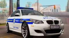 BMW M5 Croatian Police Car für GTA San Andreas