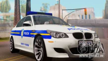 BMW M5 Croatian Police Car für GTA San Andreas