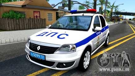Renault Logan Russian Police für GTA San Andreas