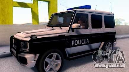 Mercedes-Benz G65 AMG der Bosnisch-herzegowinischen Polizei Auto für GTA San Andreas