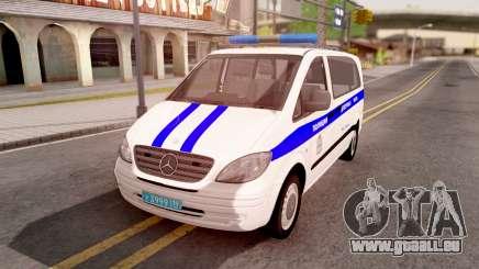 Mercedes-Benz Vito W639 Russian Police pour GTA San Andreas