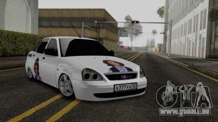 Lada Priora Auf Der Unterseite für GTA San Andreas
