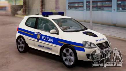 Golf V Croate Voiture De Police pour GTA San Andreas