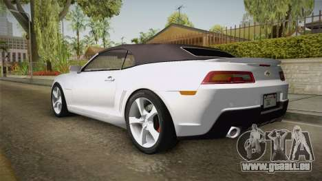 Chevrolet Camaro Convertible 2014 pour GTA San Andreas laissé vue