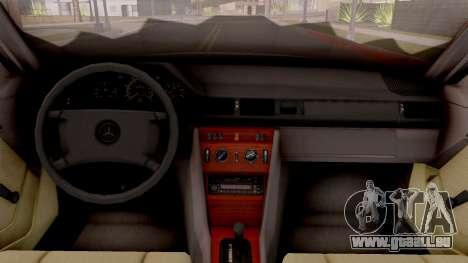 Mercedes Benz W124 für GTA San Andreas Innenansicht