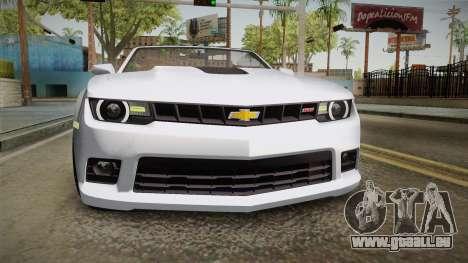 Chevrolet Camaro Convertible 2014 pour GTA San Andreas vue de côté