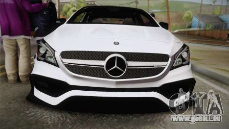 Mercedes-Benz CLA45 AMG 2017 pour GTA San Andreas vue de droite
