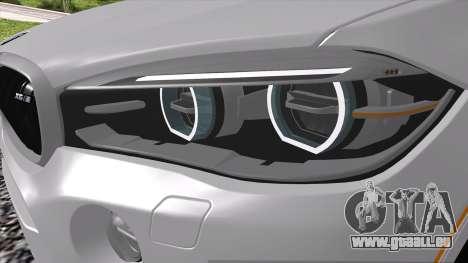 BMW X6M F86 pour GTA San Andreas sur la vue arrière gauche