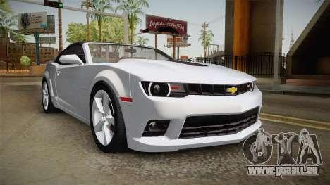 Chevrolet Camaro Convertible 2014 pour GTA San Andreas vue de droite