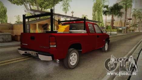 Chevrolet Silverado Work Truck 2001 für GTA San Andreas zurück linke Ansicht