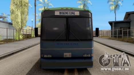 New Coach pour GTA San Andreas vue intérieure