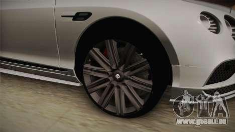 Bentley Continental GT Speed 2016 pour GTA San Andreas vue arrière