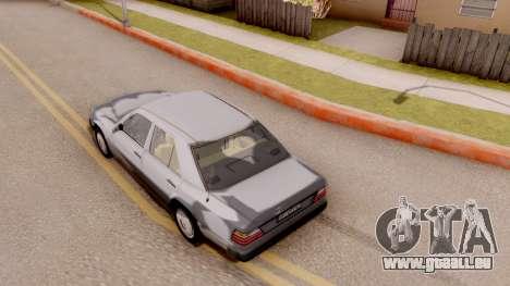 Mercedes Benz W124 für GTA San Andreas Rückansicht