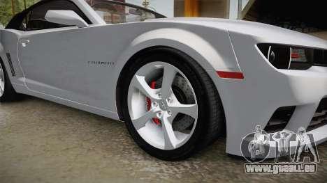 Chevrolet Camaro Convertible 2014 pour GTA San Andreas vue arrière