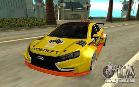 Lada Vesta WTCC für GTA San Andreas linke Ansicht