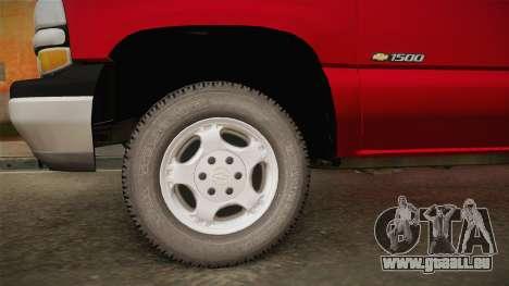 Chevrolet Silverado Work Truck 2001 für GTA San Andreas Rückansicht