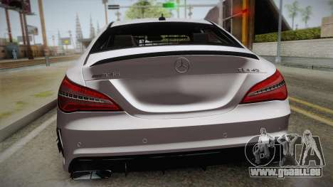 Mercedes-Benz CLA45 AMG 2017 pour GTA San Andreas vue arrière