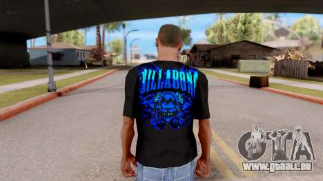 Billabong T-shirt v2 pour GTA San Andreas troisième écran