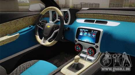 Chevrolet Camaro Convertible 2014 pour GTA San Andreas salon