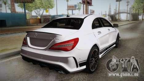 Mercedes-Benz CLA45 AMG 2017 pour GTA San Andreas laissé vue