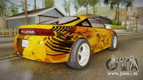 Mitsubishi Eclipse Itasha Car G41 für GTA San Andreas zurück linke Ansicht