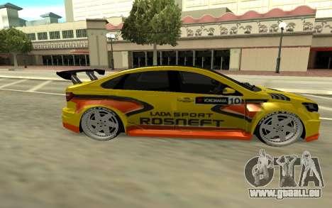 Lada Vesta WTCC für GTA San Andreas Rückansicht