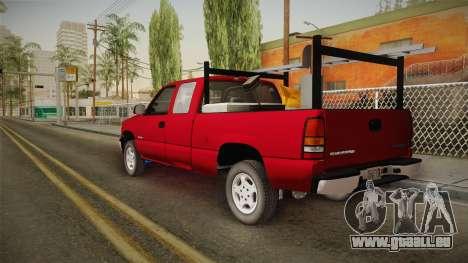 Chevrolet Silverado Work Truck 2001 für GTA San Andreas linke Ansicht