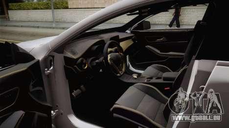 Mercedes-Benz CLA45 AMG 2017 pour GTA San Andreas vue intérieure