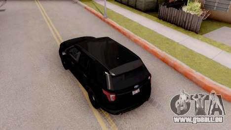Ford Explorer FBI pour GTA San Andreas vue arrière