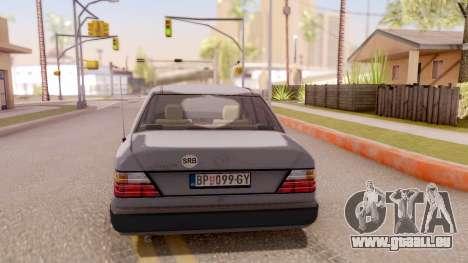 Mercedes Benz W124 für GTA San Andreas zurück linke Ansicht