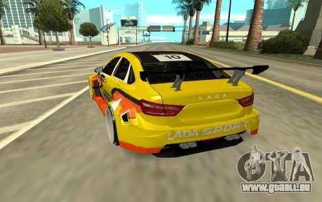 Lada Vesta WTCC für GTA San Andreas zurück linke Ansicht