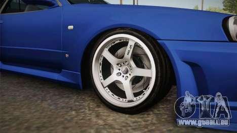 Nissan Skyline GT-R34 Tunable pour GTA San Andreas vue arrière