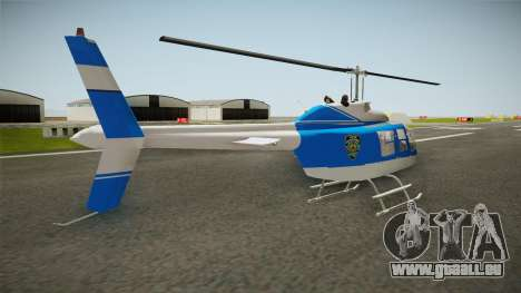 Bell 206 NYPD Helicopter pour GTA San Andreas laissé vue