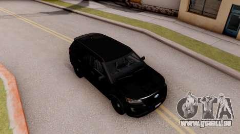 Ford Explorer FBI pour GTA San Andreas vue de droite