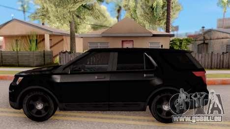 Ford Explorer FBI pour GTA San Andreas laissé vue