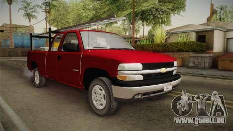Chevrolet Silverado Work Truck 2001 für GTA San Andreas rechten Ansicht