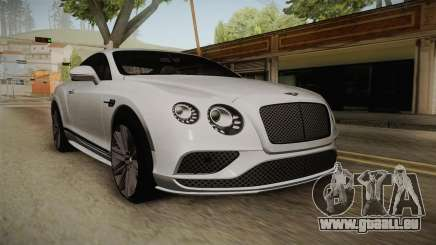 Bentley Continental GT Speed 2016 pour GTA San Andreas
