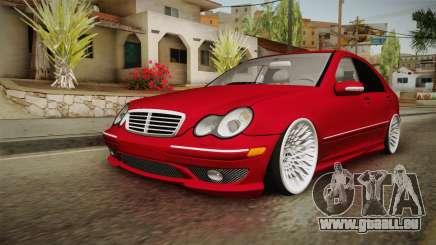 Mercedes-Benz C32 AMG Stanced pour GTA San Andreas