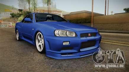 Nissan Skyline GT-R34 Tunable pour GTA San Andreas