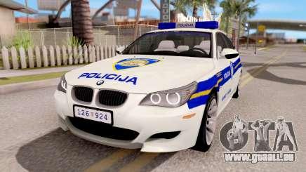 BMW M5 E60 Croatian Police Car für GTA San Andreas