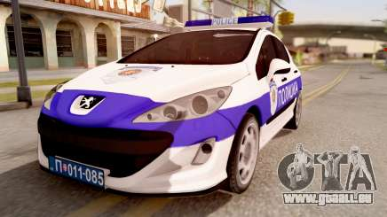 Peugeot 308 Policija pour GTA San Andreas