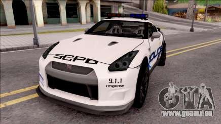 Nissan GT-R 2013 High Speed Police pour GTA San Andreas