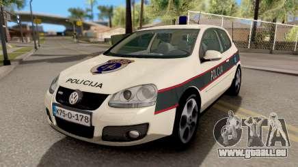 Volkswagen Golf V BIH Police Car V2 für GTA San Andreas