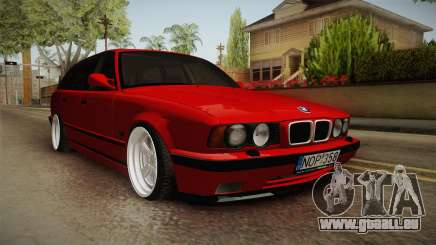 BMW 5 Series E34 Touring Stance pour GTA San Andreas